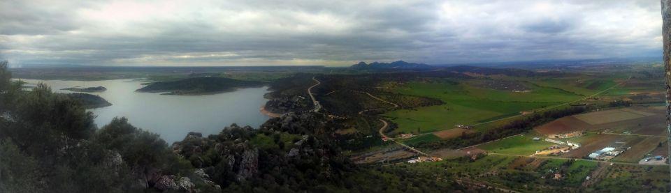 Pantano se Alange, vistas desde el Castillo de Alange